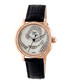 Black leather moc-croc crystal watch Sale - sophie & freda Sale
