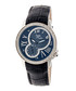 Navy leather moc-croc crystal watch Sale - sophie & freda Sale