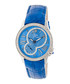 Blue leather moc-croc crystal watch Sale - sophie & freda Sale