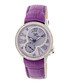 Purple leather moc-croc crystal watch Sale - sophie & freda Sale