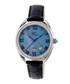 Black leather moc-croc crystal watch Sale - sophie & freda Sale