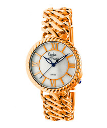 Rose gold-tone numeral watch