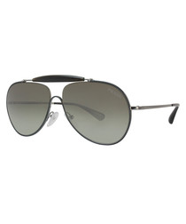 Men's black & grey top-bar sunglasses