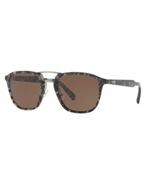 Brown & grey Havana sunglasses
