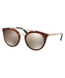 Brown & silver-tone sunglasses