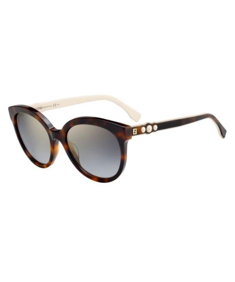 Havana & grey rounded sunglasses Sale - fendi