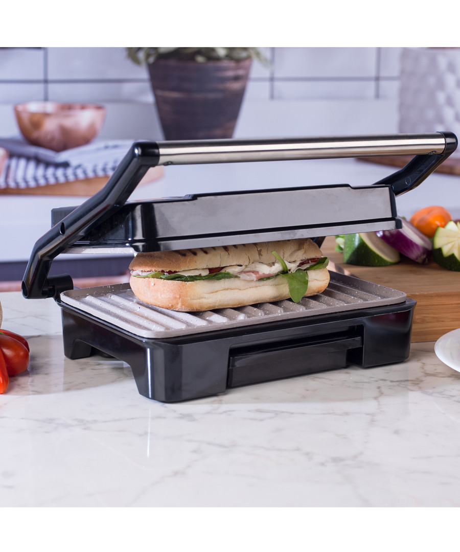 Black health grill & panini maker 750W Sale - Giles and Posner