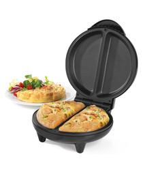 Silver-tone dual omelette maker 700W