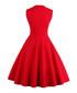 Red & black cotton print full dress Sale - Mixinni Sale