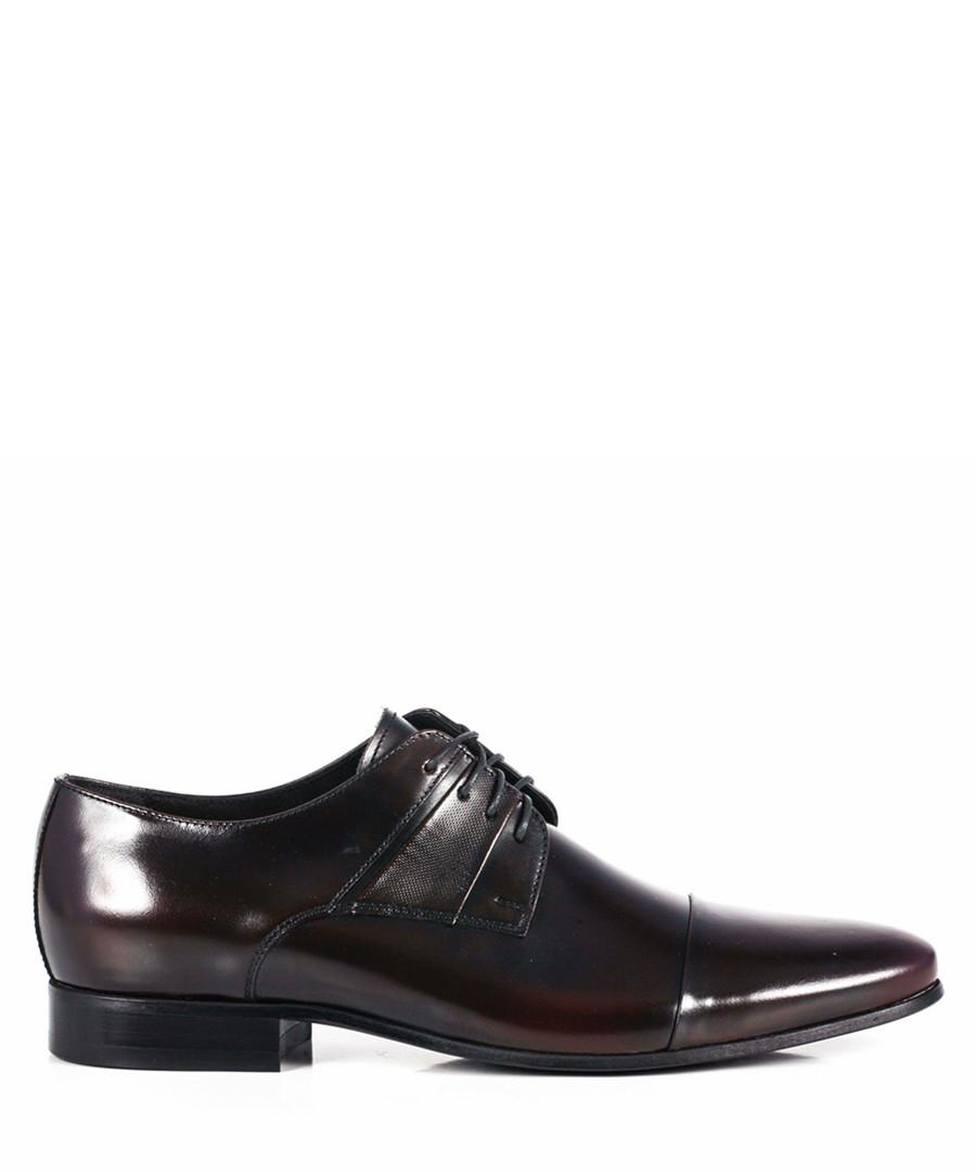 Men's black leather lace-up Derbys Sale - WINK