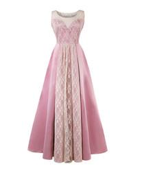 Pink sleeveless print maxi dress