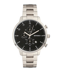 Holden silver-tone & black link watch