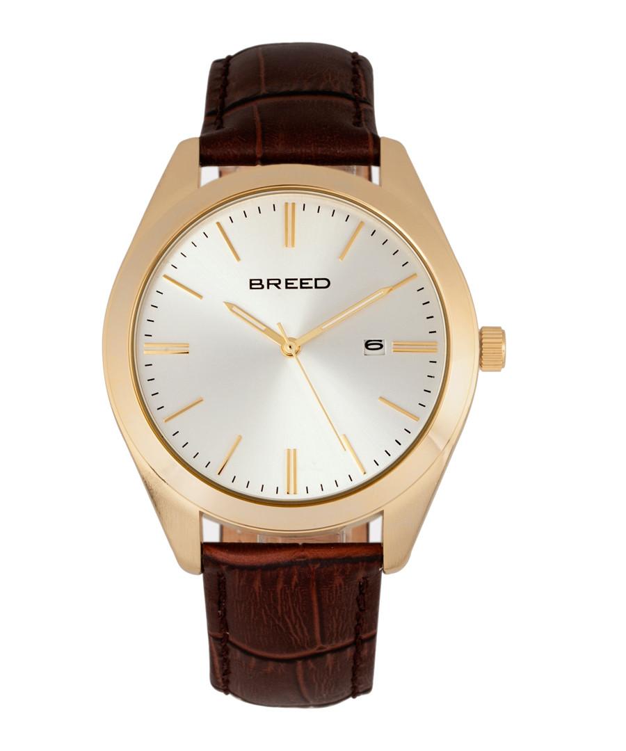 Louis brown leather moc-croc watch Sale - breed