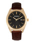 Louis brown & gold-tone leather watch Sale - breed Sale
