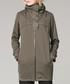 Dark olive waterproof zip-up coat Sale - protected species Sale