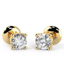 0.25ct diamond & 9kt gold studs