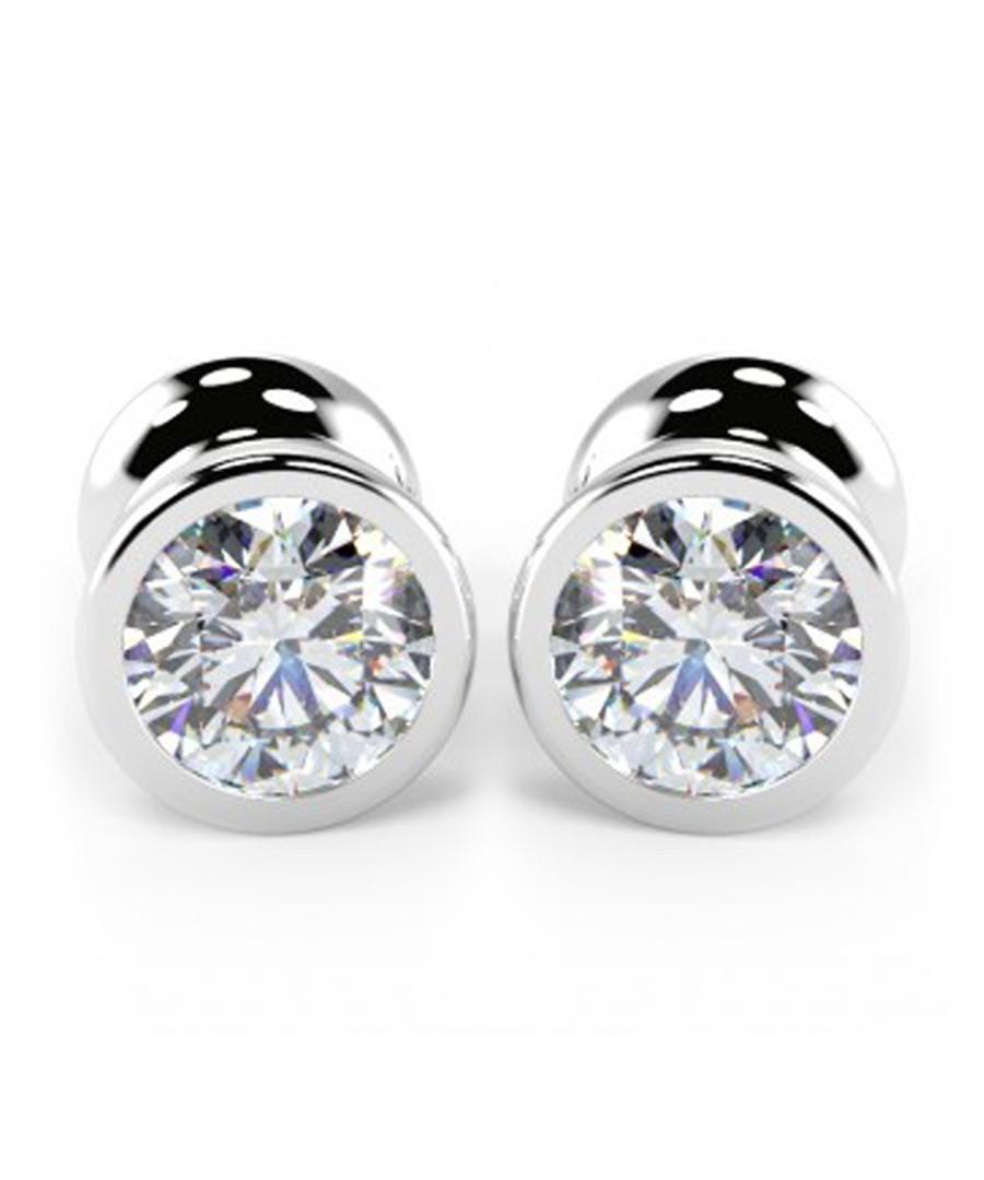 9k white gold & diamond studs Sale - Buy Fine Diamonds