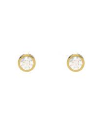 9kt gold & diamond Basel studs