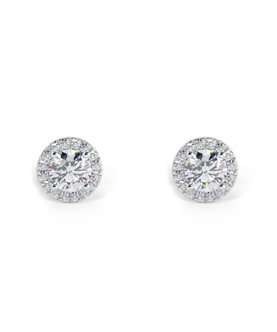0.5ct diamond & white gold halo studs Sale - Buy Fine Diamonds