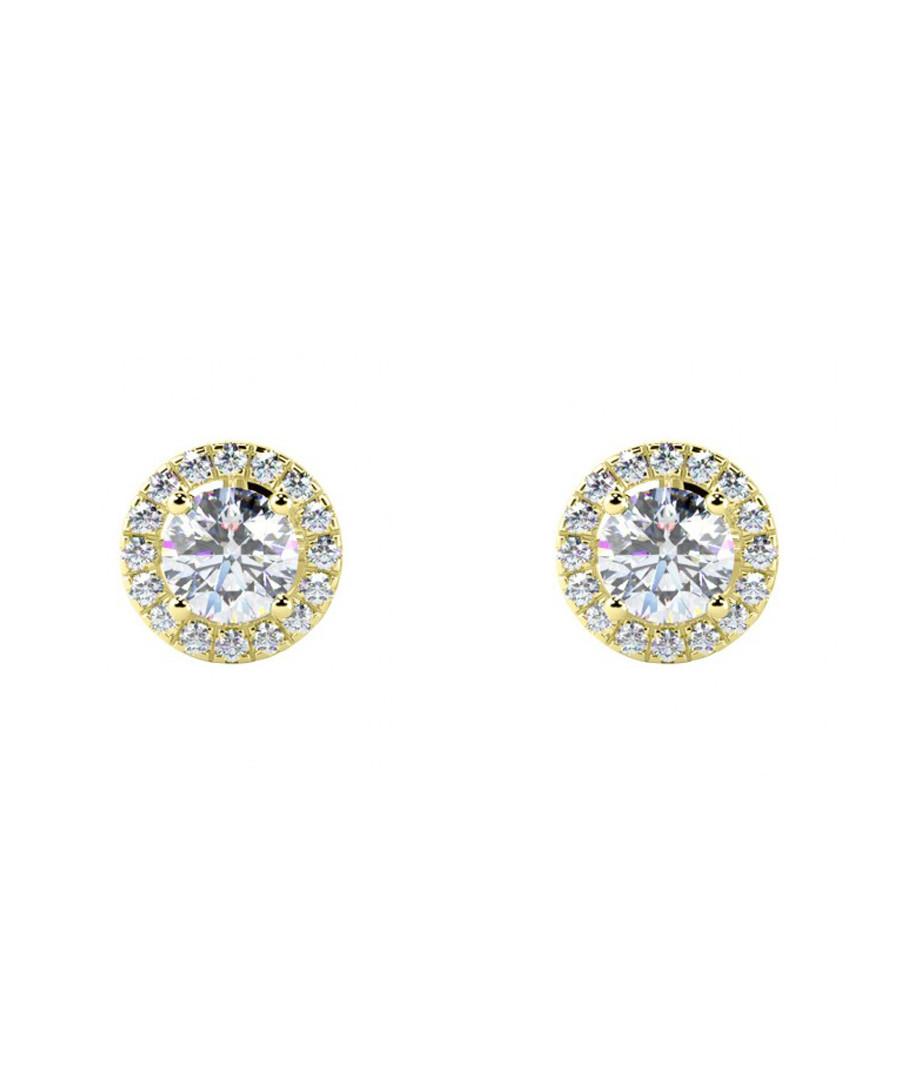 0.5ct diamond & gold halo studs Sale - Buy Fine Diamonds