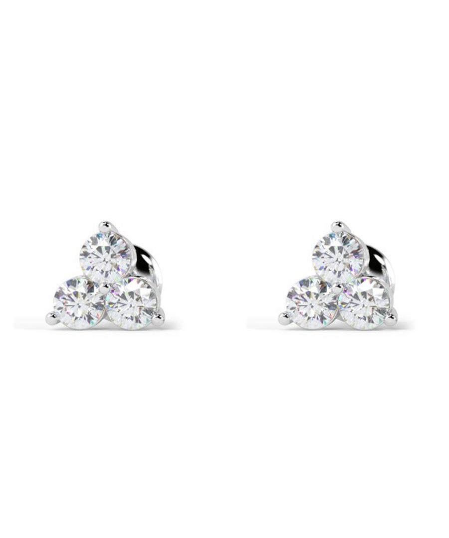 0.4ct diamond & white gold trio studs Sale - buy fine diamonds