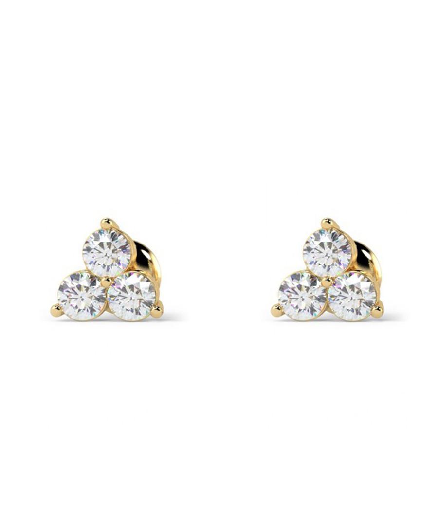 0.4ct diamond & gold trio studs Sale - Buy Fine Diamonds