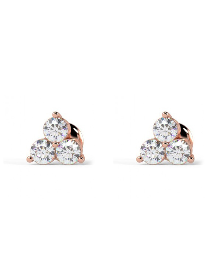 0.4ct diamond & rose gold trio studs Sale - Buy Fine Diamonds