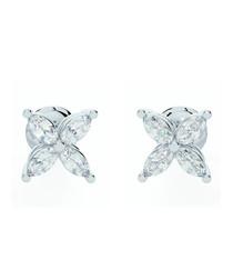 0.4ct marquise diamond earrings