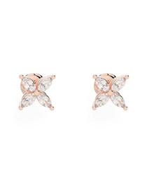 0.4ct marquise diamond & rose gold studs