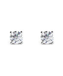 1ct diamond & white gold studs