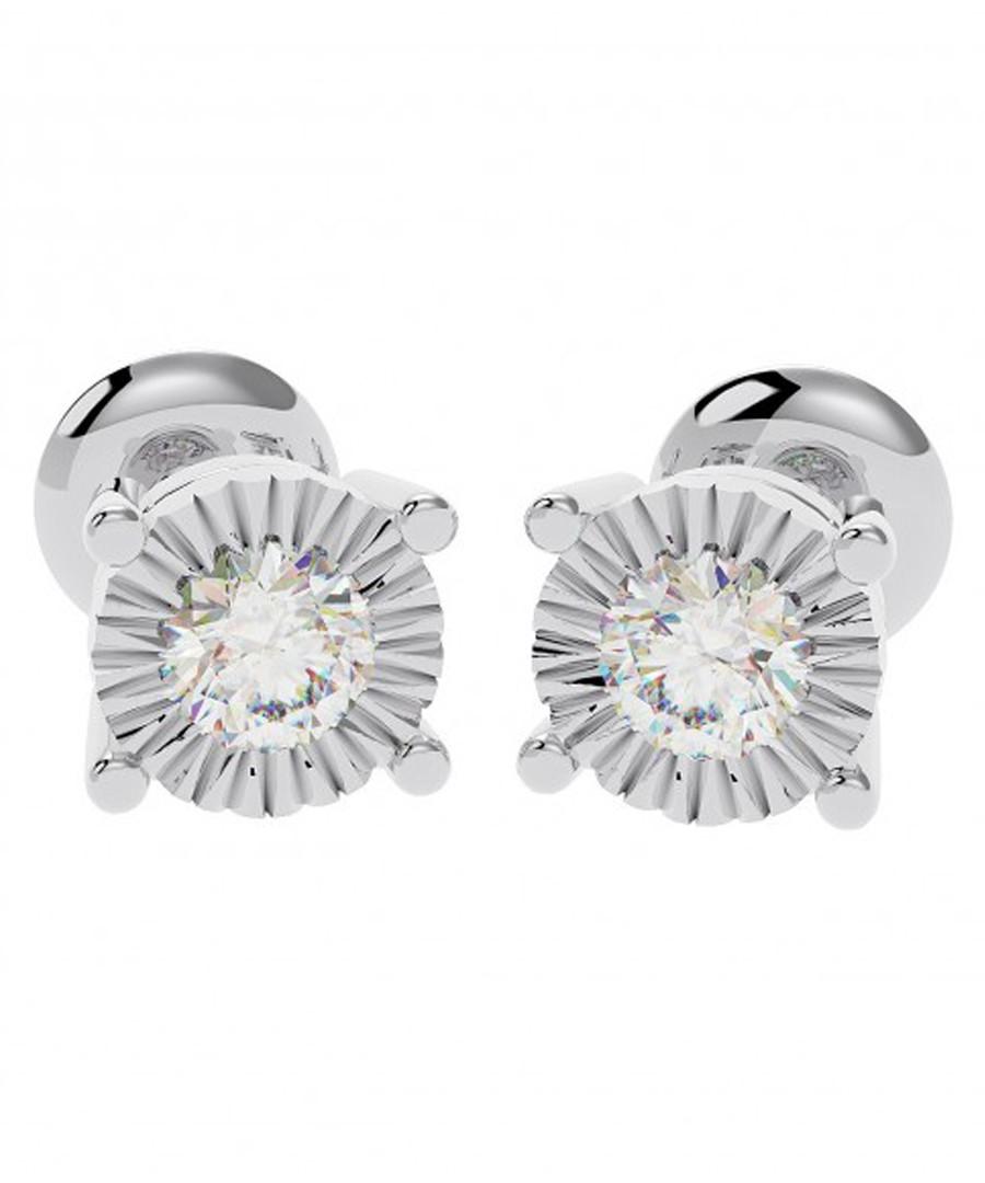 Illusion diamond & white gold studs Sale - buy fine diamonds