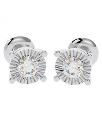 Illusion diamond & white gold studs