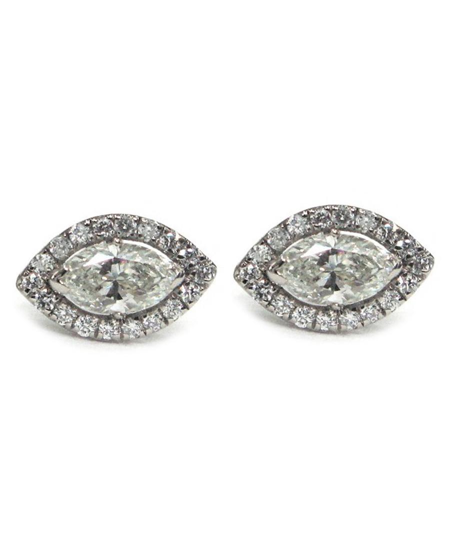 White gold & diamond marquise studs Sale - buy fine diamonds