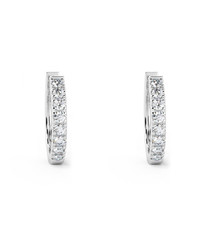 0.3ct diamond & white gold hoops