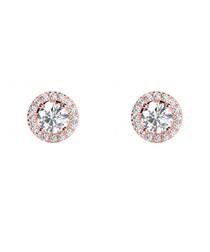 0.5ct diamond & rose gold halo studs