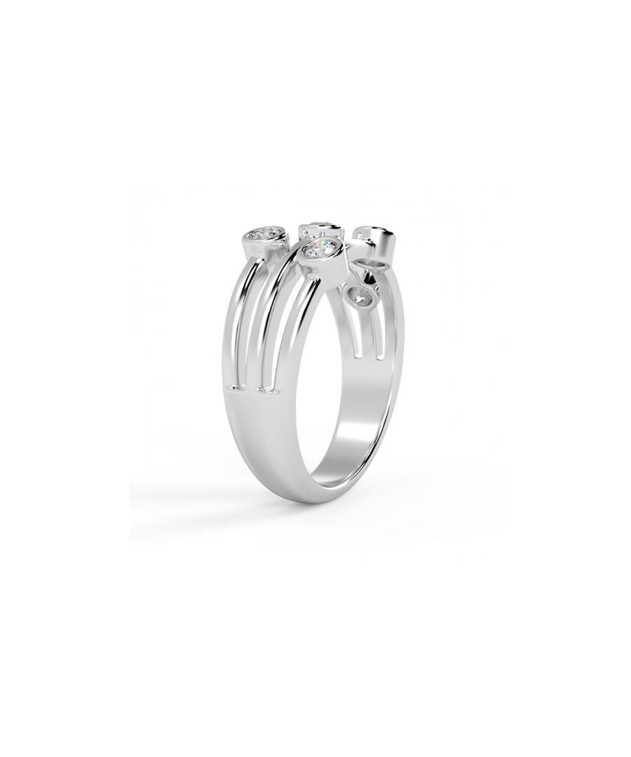 0.5ct diamond & white gold bubble ring Sale - buy fine diamonds