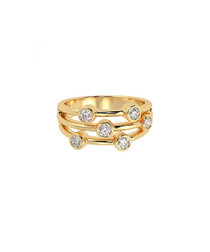 0.5ct diamond & gold bubble ring
