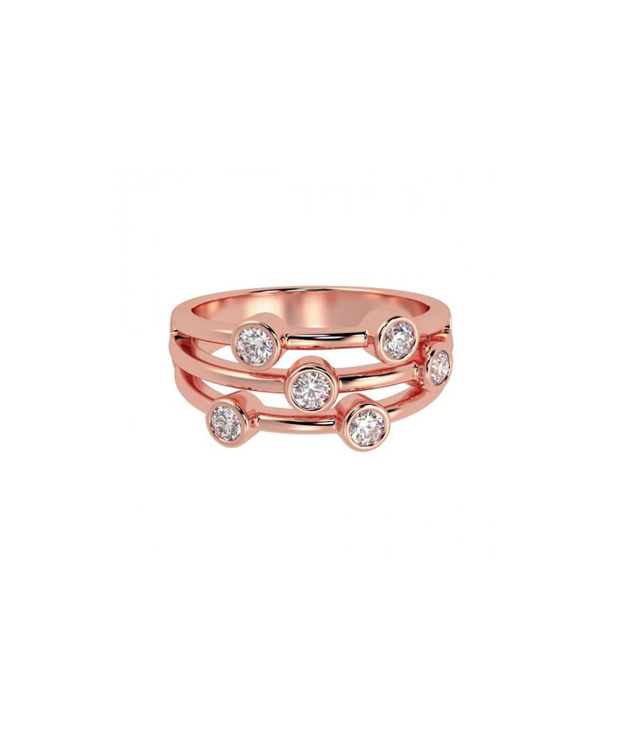 0.5ct diamond & rose gold bubble ring Sale - Buy Fine Diamonds
