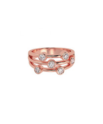 0.5ct diamond & rose gold bubble ring