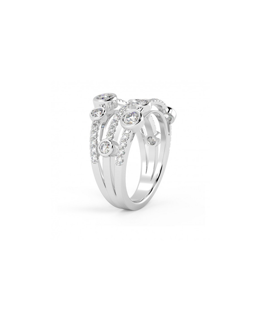 1ct diamond & white gold bubble ring Sale - Buy Fine Diamonds