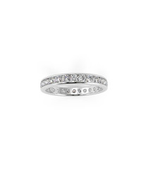 1ct diamond & white gold eternity ring