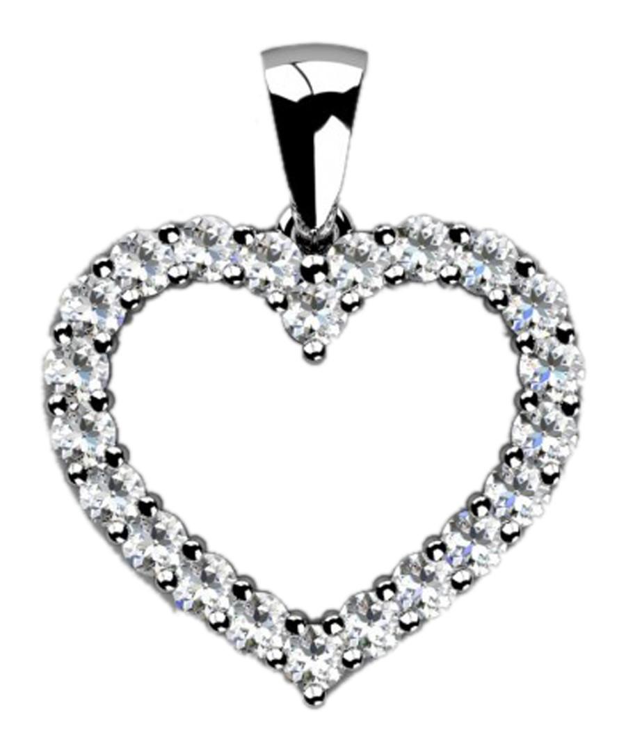 0.3ct diamond & white gold heart pendant Sale - Buy Fine Diamonds