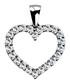 0.3ct diamond & white gold heart pendant Sale - Buy Fine Diamonds Sale