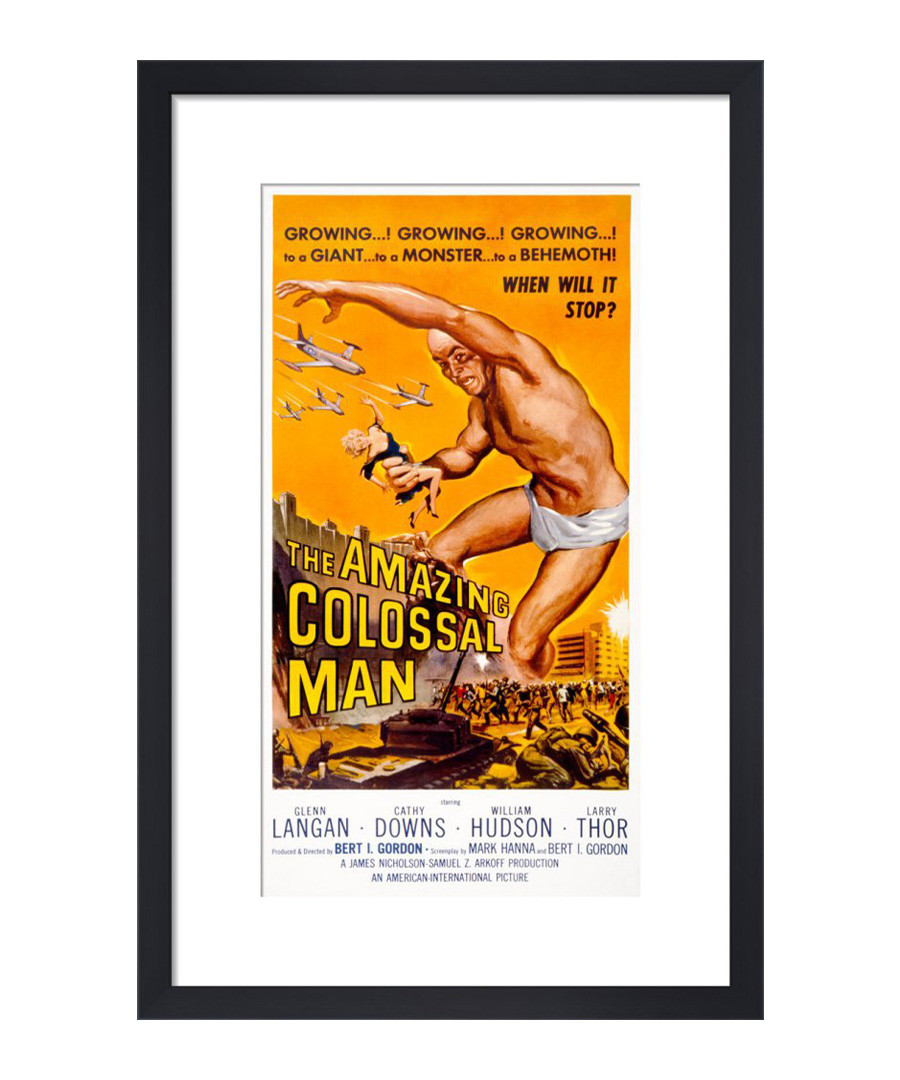The Amazing Colossal Man framed print Sale - The Art Guys