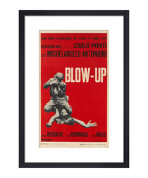 Blow-Up red framed print