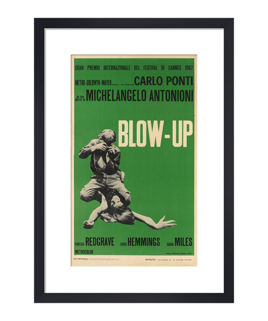 Blow-Up green framed print Sale - The Art Guys