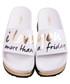 High Friday white slogan sliders Sale - The White Brand Sale