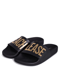 Beach Please black & gold sliders