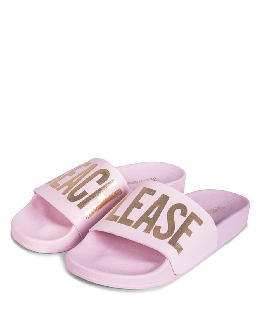 Beach Please pink sliders Sale - The White Brand
