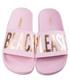 Beach Please pink sliders Sale - The White Brand Sale